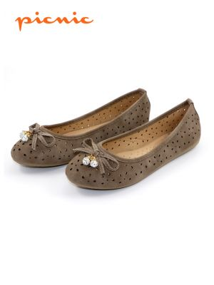 PICNIC Perforated Ballerina Shoe for Women